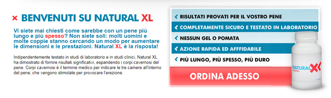 Natural XL Homepage