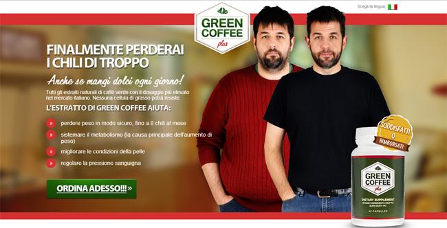 Green Coffee Plus Homepage