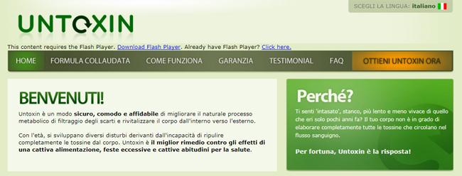 Untoxin Homepage